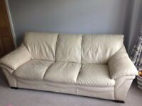 Designer Real Leather Sofa Set 3 & 2 Excellent Condition no rip tears pet free home deliver