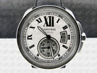 Cartier Cartier Tank Genuine Leather Band Wristwatches
