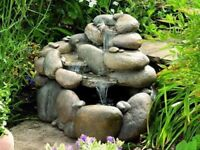 Babbling Boulders Cascading Water Feature with Lights