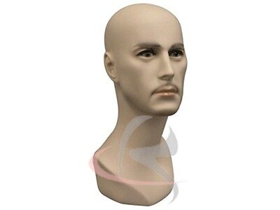 Male Mannequin Head Bust Wig Hat Jewelry Display #JackF1