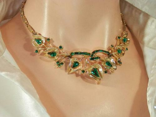 Vintage Emerald Necklace Ebay