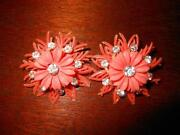 Vintage Orange Rhinestone Jewelry