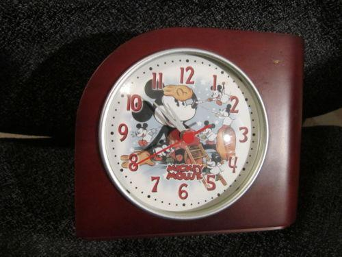 Mickey Mouse Desk Clock Ebay