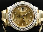 Men's Rolex President Solid Gold Case Wristwatches