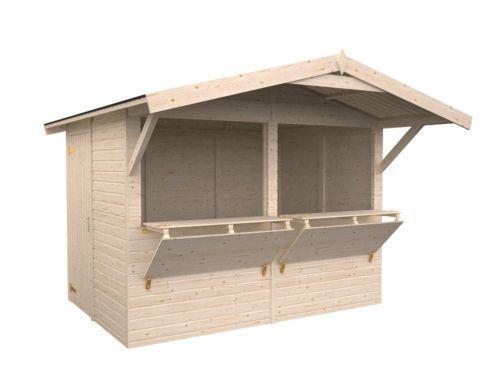 marktstand holz business industrie ebay. Black Bedroom Furniture Sets. Home Design Ideas