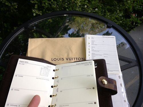 2016 REFILL CALENDAR FITS LOUIS VUITTON AGENDA PM COVER ~ Week on Two Pages