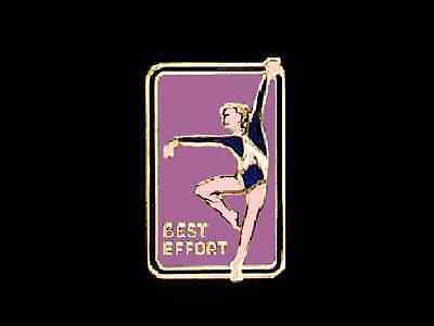 Best Effort Gymnastics Lapel Pin MOTIVATIONAL & ENCOURAGING