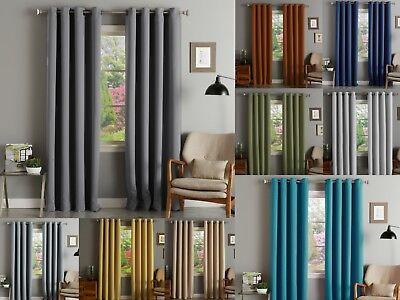 Wide Thermal (Akatsi Solid Thermal Blackout Grommet Window Curtain Panel 55