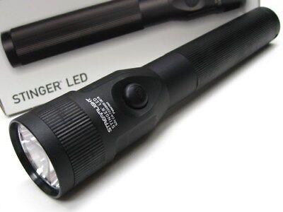 Streamlight 75732 Black Stinger LED Flashlight Light + AC / DC Piggyback Holder
