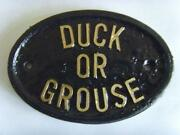 Duck Sign