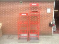 5 x 60L Capacity Oil Drum Motul Stand In Red Including Drip Pans