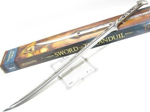 United Cutlery UC3042 The Hobbit Sword Of Thranduil w/ Wooden Display Mount