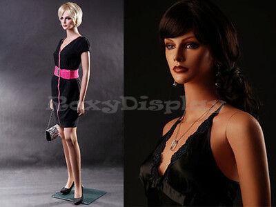 Female Fiberglass Mannequin Beautiful Face With Elegant Pose Style Mz-lisa1
