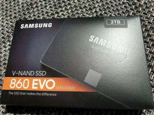 Samsung 860 EVO 2TB (2000GB) SATA III 6GB/s 2,5-Zoll SSD NEU & OVP