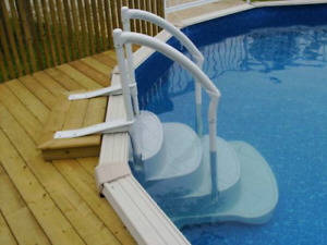 Above Ground Pool Plastic Steps Stairs Ladder / Échelle Piscine