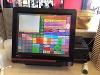 EPOS System Casio QT6600 epos touch screen till cash register printer & drawer QT-6600