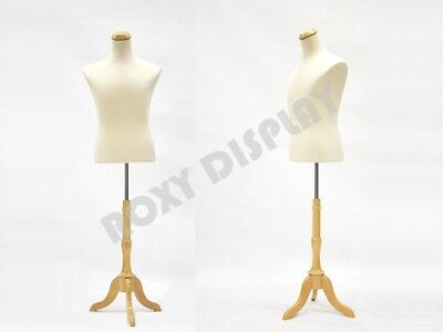 Male Mannequin Shirt Form With Linen Cover Dress Body Form Jf-33m01lbs-01nx