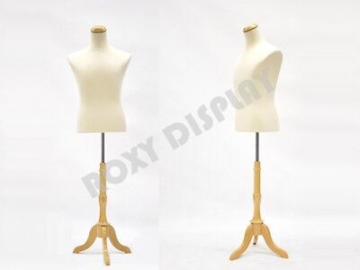 Male Mannequin Shirt Form With White Linen Dress Body Form Jf-33m01lbs-01nx