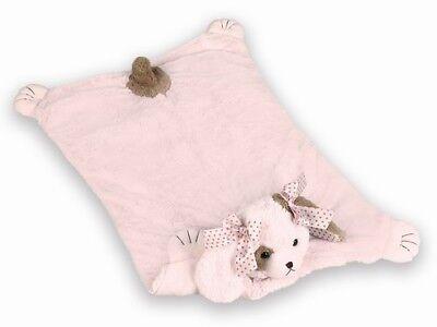 Bearington Wiggles Stuffed Animal Pink Puppy Dog Baby Mat, Belly Blanket, Tum...