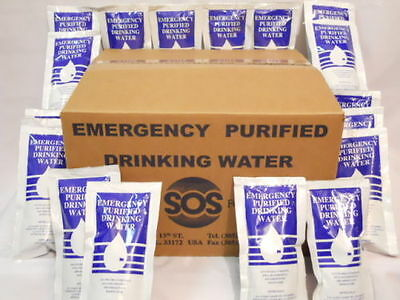 Emergency Drinking Water Case of 64 Pouches (4.227 FL OZ.)ea. 35 Day Survival