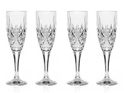 Godinger Dublin Crystal Champagne Flutes - Set Of 4 - $34.98