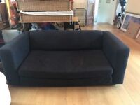 Black 2 seater sofa bed