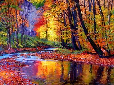 """Autumn Forest Paint by Numbers for Adults 20""""x 16"""" DIY  Painting Kit"""