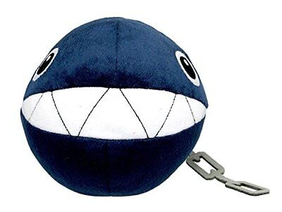 "Sanei Little Buddy Super Mario All Star Collection 5"" Chain Chomp Stuffed Plush"