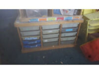 Ex School Multidrawer Wooden Tray Unit