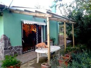 pergola addossata in legno 5x4 mt copertura tettoia gazebo da ... - Gazebo In Legno Da Giardino Usato