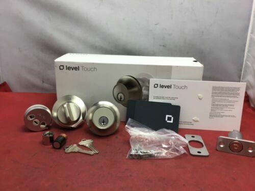 Level Touch Single Cylinder Smart Deadbolt Bluetooth Touch Tech Satin Chrome