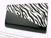 Black and White Animal Print Bag