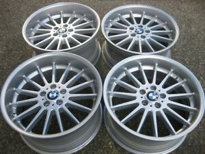 "Set of Genuine OEM Staggered BMW 20"" style 32 rims showrm cond"