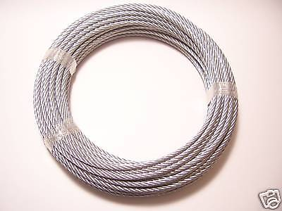 Galvanized Wire Rope Cable 516 7x19 100 Ft