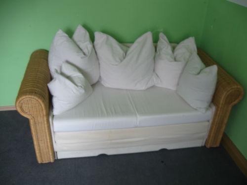 rattan schlafsofa sofas sessel ebay. Black Bedroom Furniture Sets. Home Design Ideas