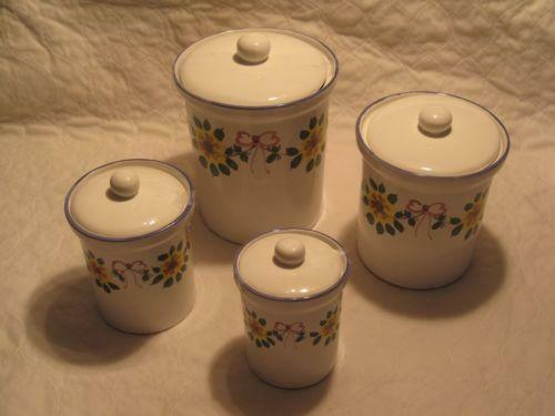 sunflower canisters ebay
