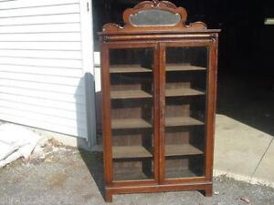 glass door cabinet ebay