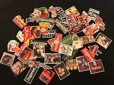 50 Supreme Skateboard Longboard Vintage Vinyl Sticker Laptop Luggage Car Decals