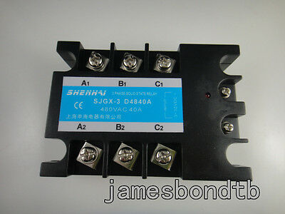 Three Phase 3phase Dc Ac Solid State Relay Ssr-40a 40a
