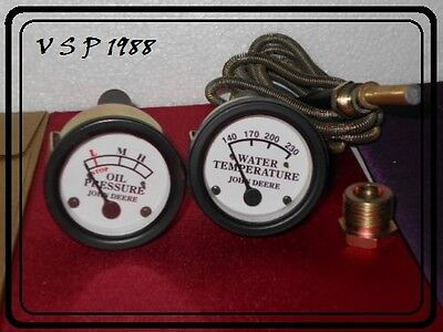 Tractor Oil Pressure, Temperature Gauge Set Replacement for John Deere