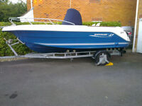 2004 Quicksilver 550 Commander Mariner 115EFI Sports Fishing Power Boat with Trailer