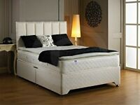 🔥🔥Comfortable Bed🔥🔥 DOUBLE DIVAN BED BASE WITH LUXURY SPRUNG MATTRESS & FAST DELIVERY