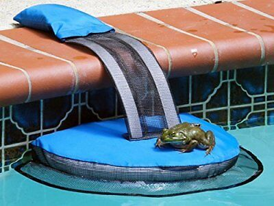 Swimming Pool Critter Saving Escape Ramp Frog Log Animal Saver Blue Easy set-up Easy Set Pool Accessories
