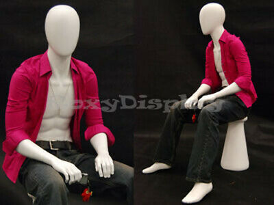 Male Mannequin Dress Form Display Sitting Pose Md-kw15d