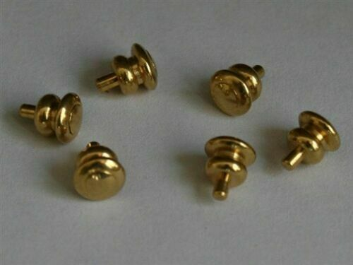 Set of 6 Dollhouse Miniature Brass Door Knobs 1/12 Scale #WCHW56