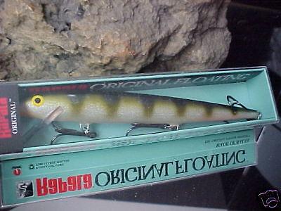 "Rapala 7"" Orginal Balsa Floating F18 YP YELLOW PERCH for Bass/Walleye/Pike"