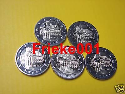 Duitsland - Allemagne - 5x 2 euro 2010 comm.(Bremen)