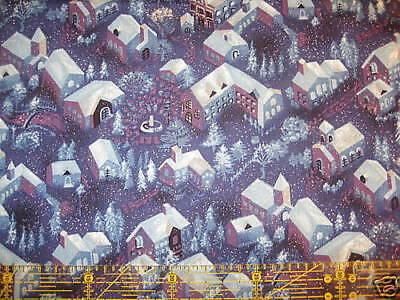 Patchwork Quilt Stoff - Benartex Winter Wonderland Weihnachten blau (12,- €/m) Blau Quilten Stoff