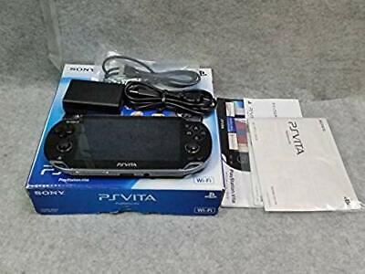Playstation vita 3G/Wi-Fi model CRISTAL BLACK PCH-1000 ZA01 boxed Consoles