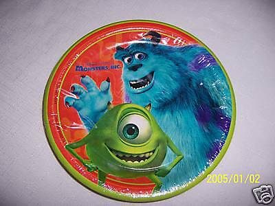 NEW ~MONSTERS,INC~ 8- DESSERT  PLATES  PARTY SUPPLIES